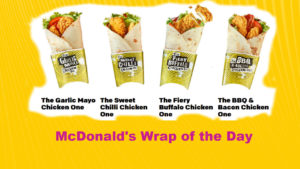 McDonalds Wrap of the Day