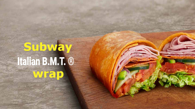 Subway Italian B M T wrap calories