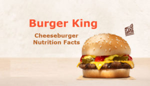Burger King Cheeseburger Calories