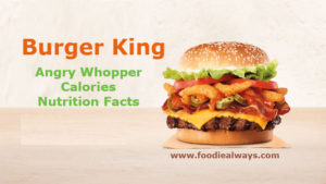Burger King Angry Whopper Calories