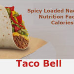 Taco Bell Spicy Loaded Nacho Taco Calories | Nutrition Facts | Ingredients