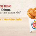 How Many Calories in Burger King Onion Rings | Small | Medium | Large