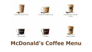 McDonald's coffee menu