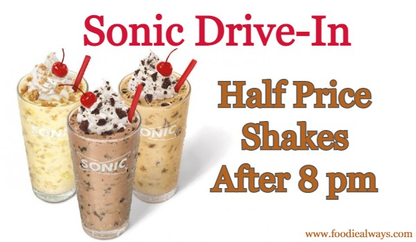 Sonic Shakes After 8 PM